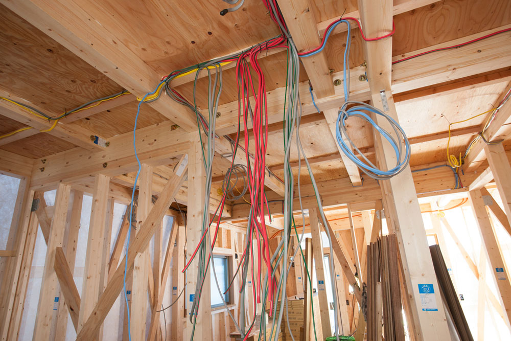 Internal electrical wiring for home